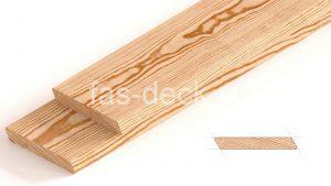скошенный планкен из лиственницы с профилем